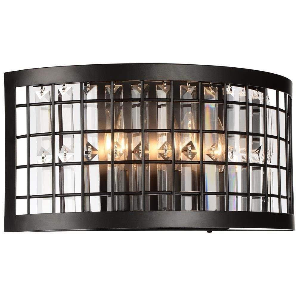 CWI Lighting Wall Sconces Brown / K9 Clear Meghna 3 Light Wall Sconce with Brown finish by CWI Lighting 9697W16-3-192