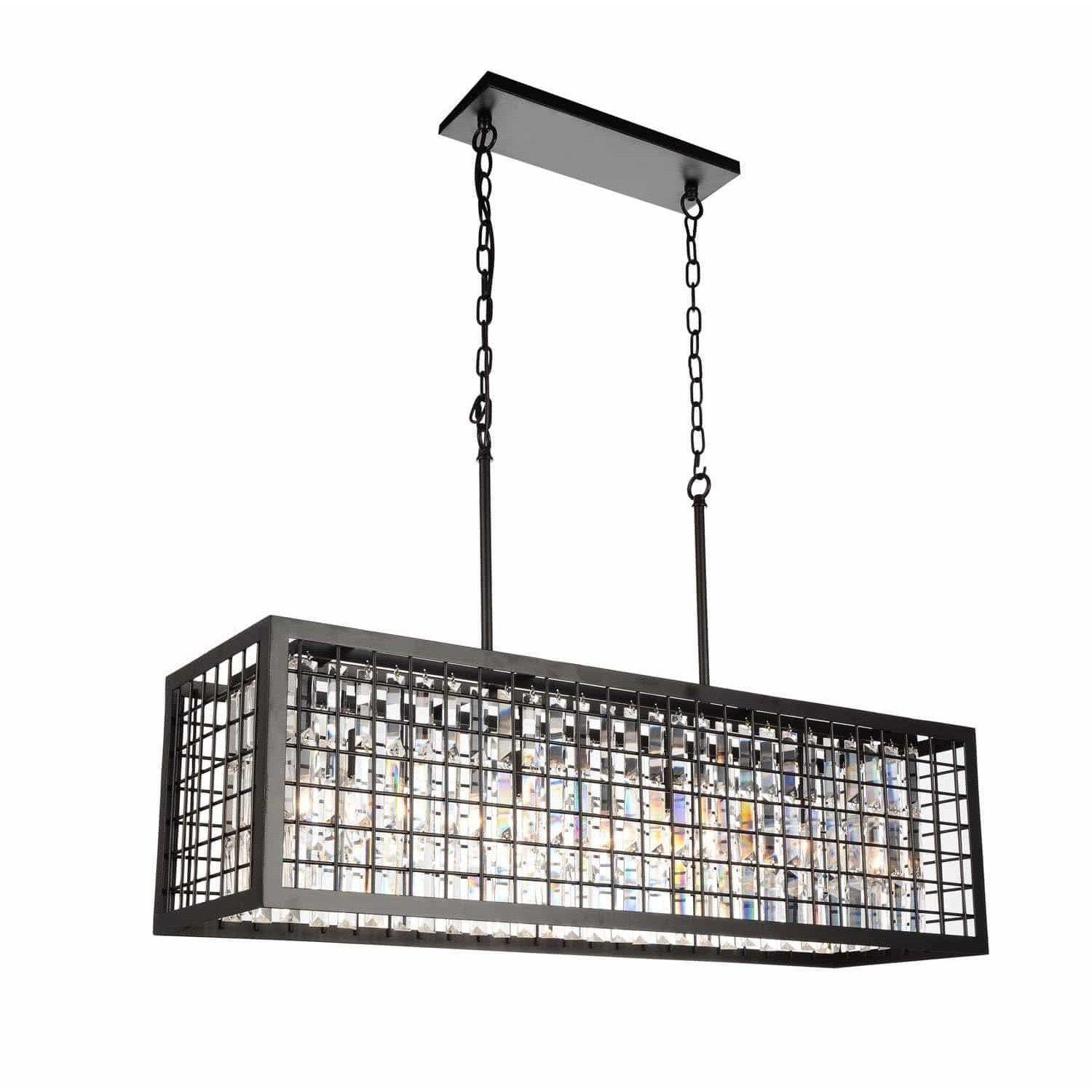 CWI Lighting Chandeliers Brown / K9 Clear Meghna 4 Light Down Chandelier with Brown finish by CWI Lighting 9697P36-4-192