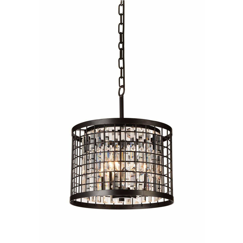 CWI Lighting Chandeliers Brown / K9 Clear Meghna 4 Light Up Chandelier with Brown finish by CWI Lighting 9697P14-4-192