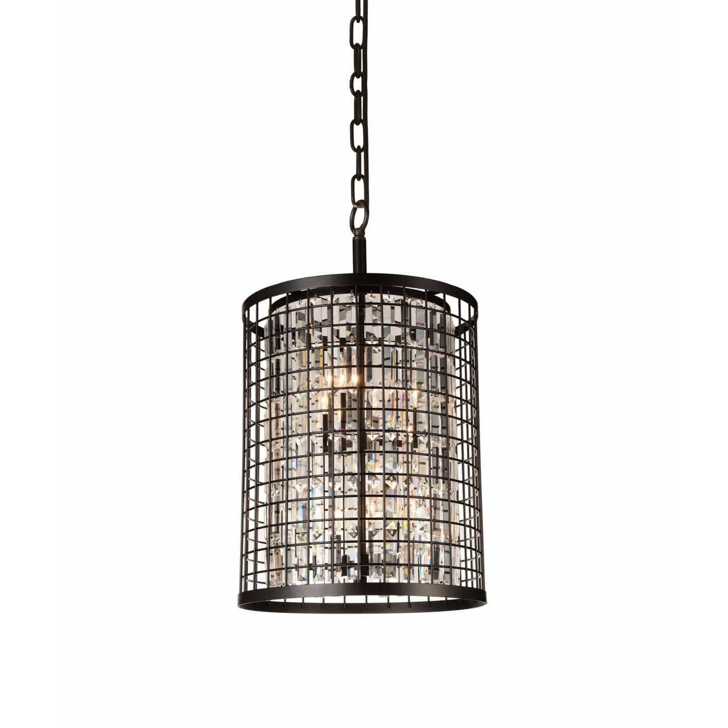 CWI Lighting Chandeliers Brown / K9 Clear Meghna 6 Light Up Chandelier with Brown finish by CWI Lighting 9697P17-6-192
