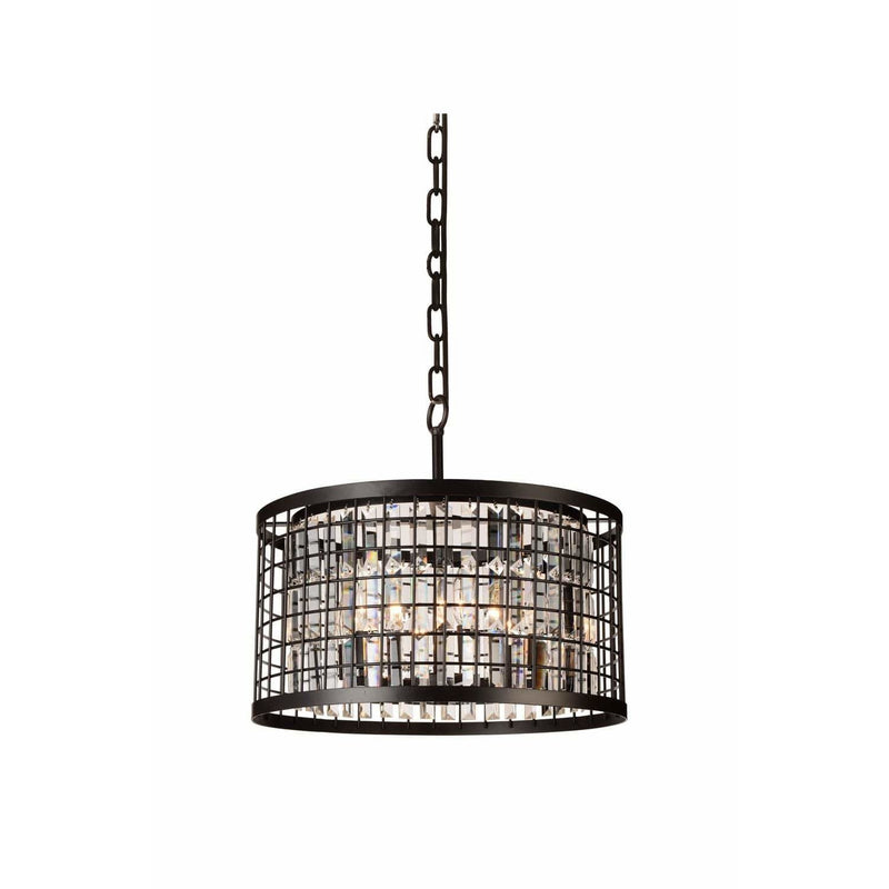 CWI Lighting Chandeliers Brown / K9 Clear Meghna 6 Light Up Chandelier with Brown finish by CWI Lighting 9697P20-6-192