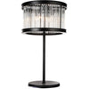 CWI Lighting Table Lamps Black / K9 Clear Mira 4 Light Table Lamp with Black finish by CWI Lighting 9861T18-4-101