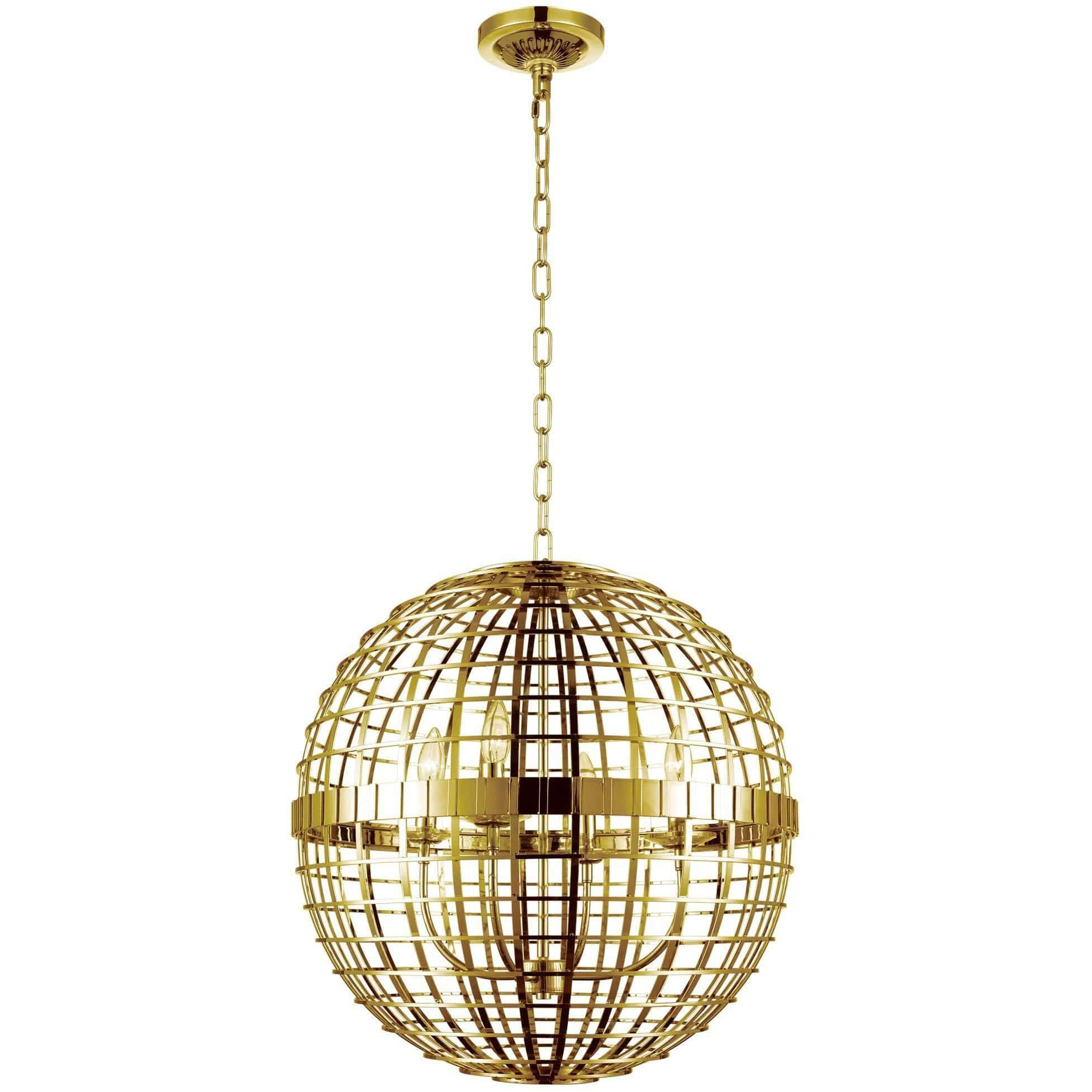 CWI Lighting Chandeliers Gold Niya 4 Light Chandelier with Gold finish by CWI Lighting 9974P16-4-608