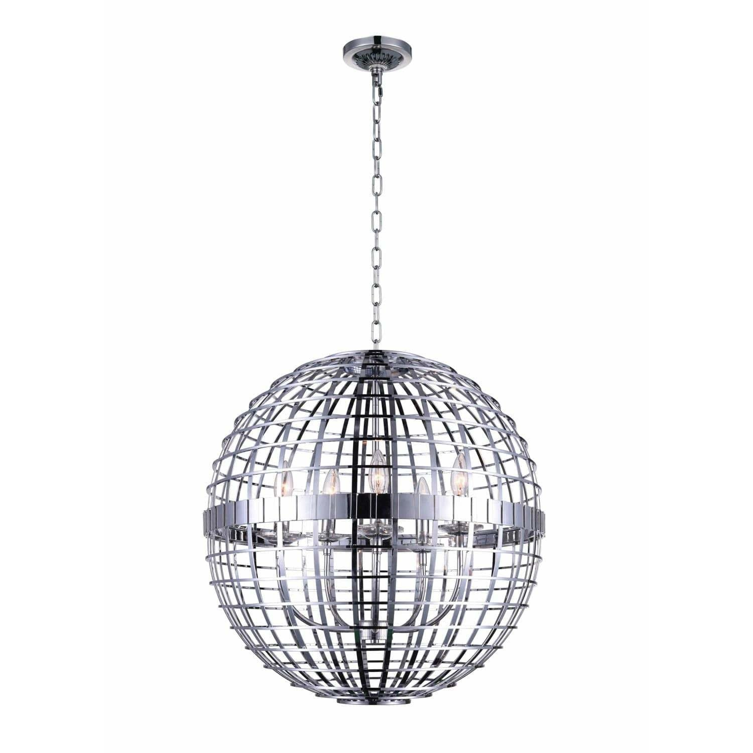 CWI Lighting Chandeliers Chrome Niya 5 Light Chandelier with Chrome finish by CWI Lighting 9974P22-5-601