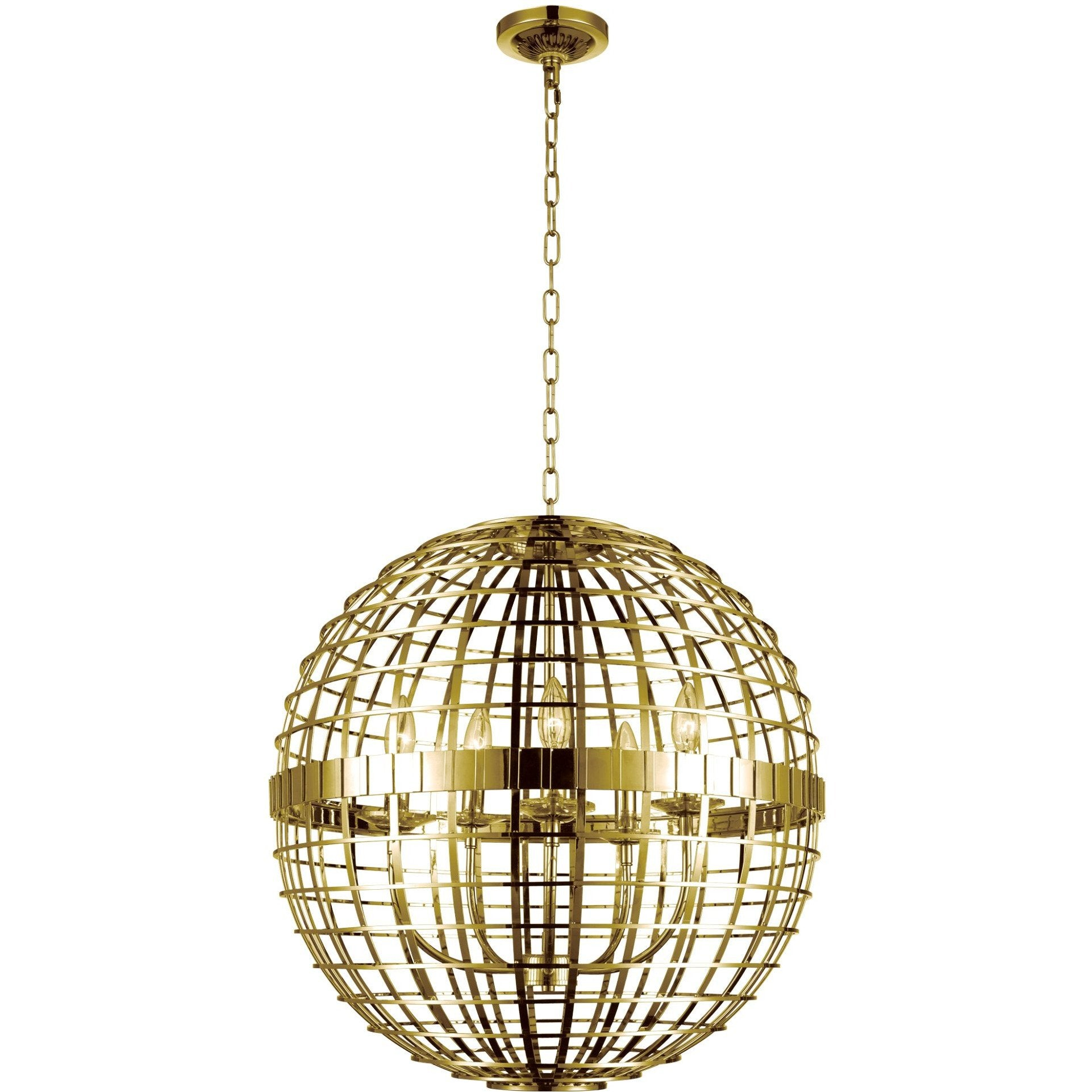 CWI Lighting Chandeliers Gold Niya 5 Light Chandelier with Gold finish by CWI Lighting 9974P22-5-608