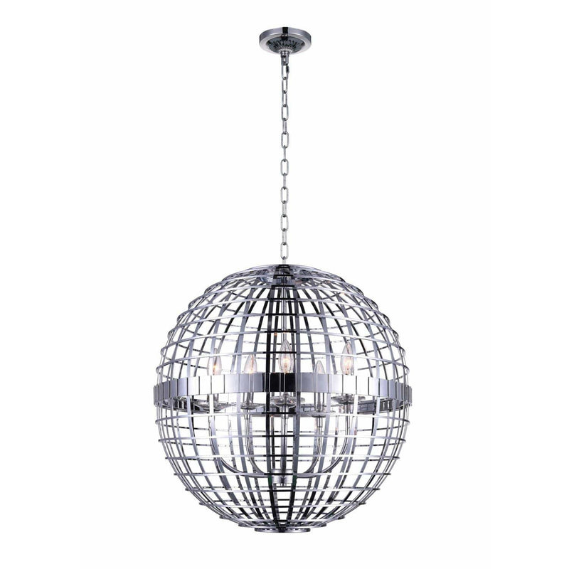 CWI Lighting Chandeliers Chrome Niya 6 Light Chandelier with Chrome finish by CWI Lighting 9974P28-6-601