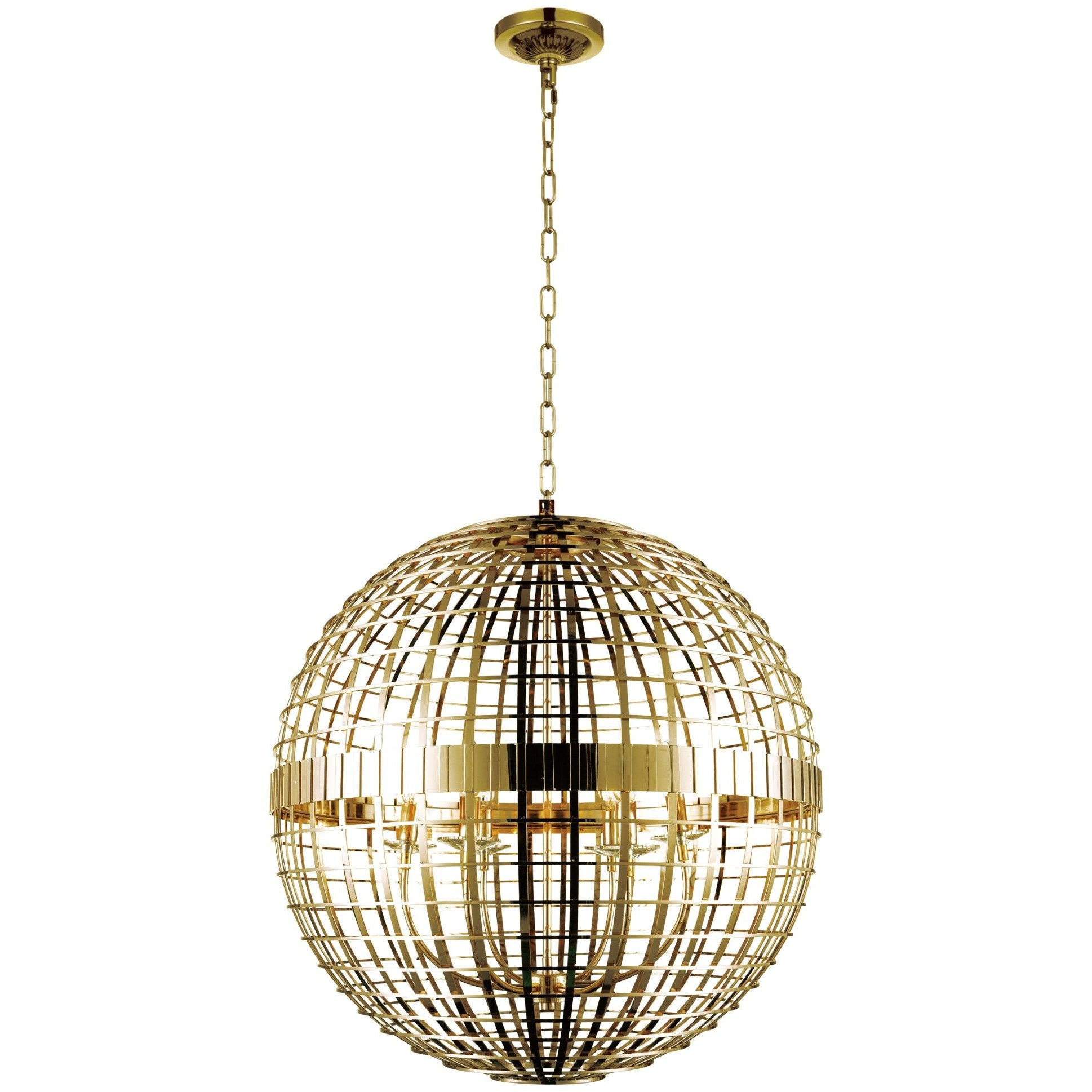 CWI Lighting Chandeliers Gold Niya 6 Light Chandelier with Gold finish by CWI Lighting 9974P28-6-608
