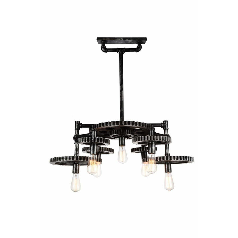 CWI Lighting Chandeliers Silver Gray Oder  7 Light Down Chandelier with Silver Gray finish by CWI Lighting 9698P35-7-187