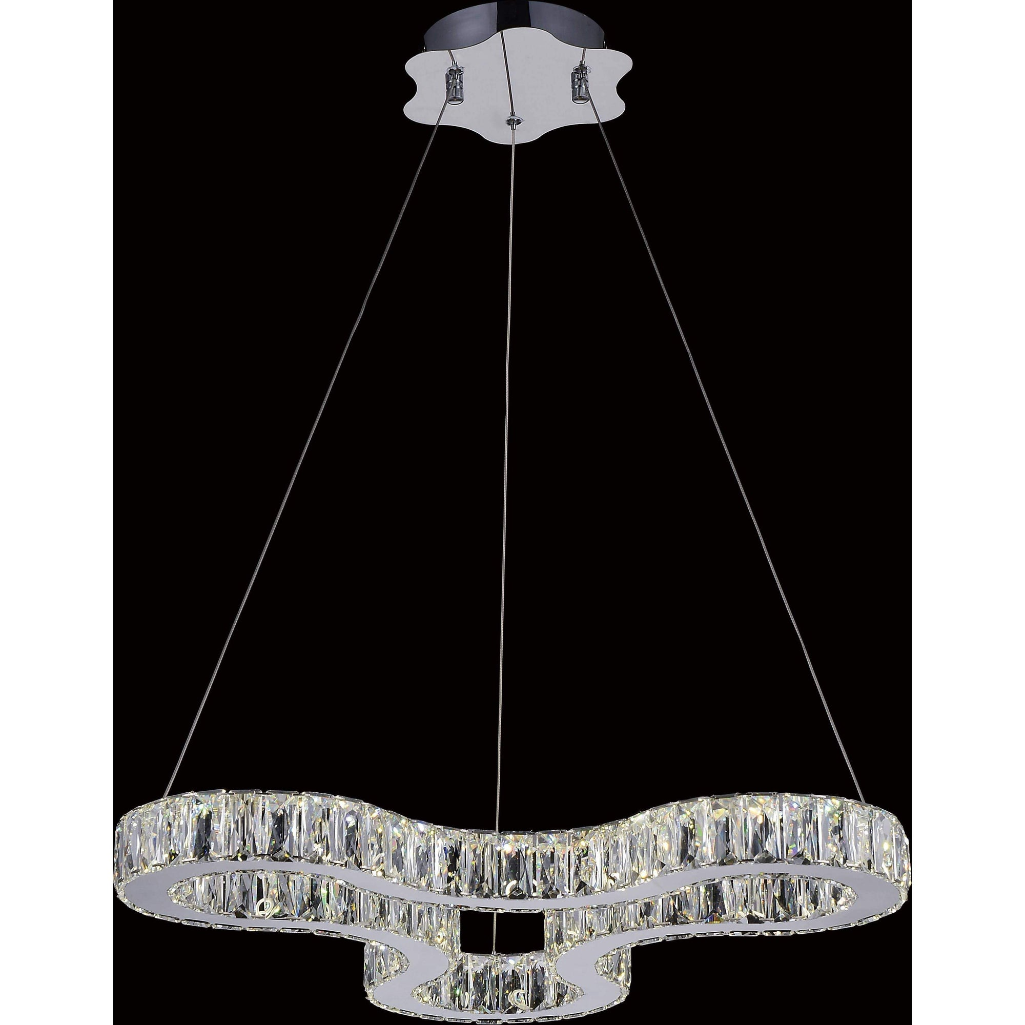 CWI Lighting Chandeliers Chrome / K9 Clear Odessa LED Chandelier with Chrome finish by CWI Lighting 5616P23ST-R