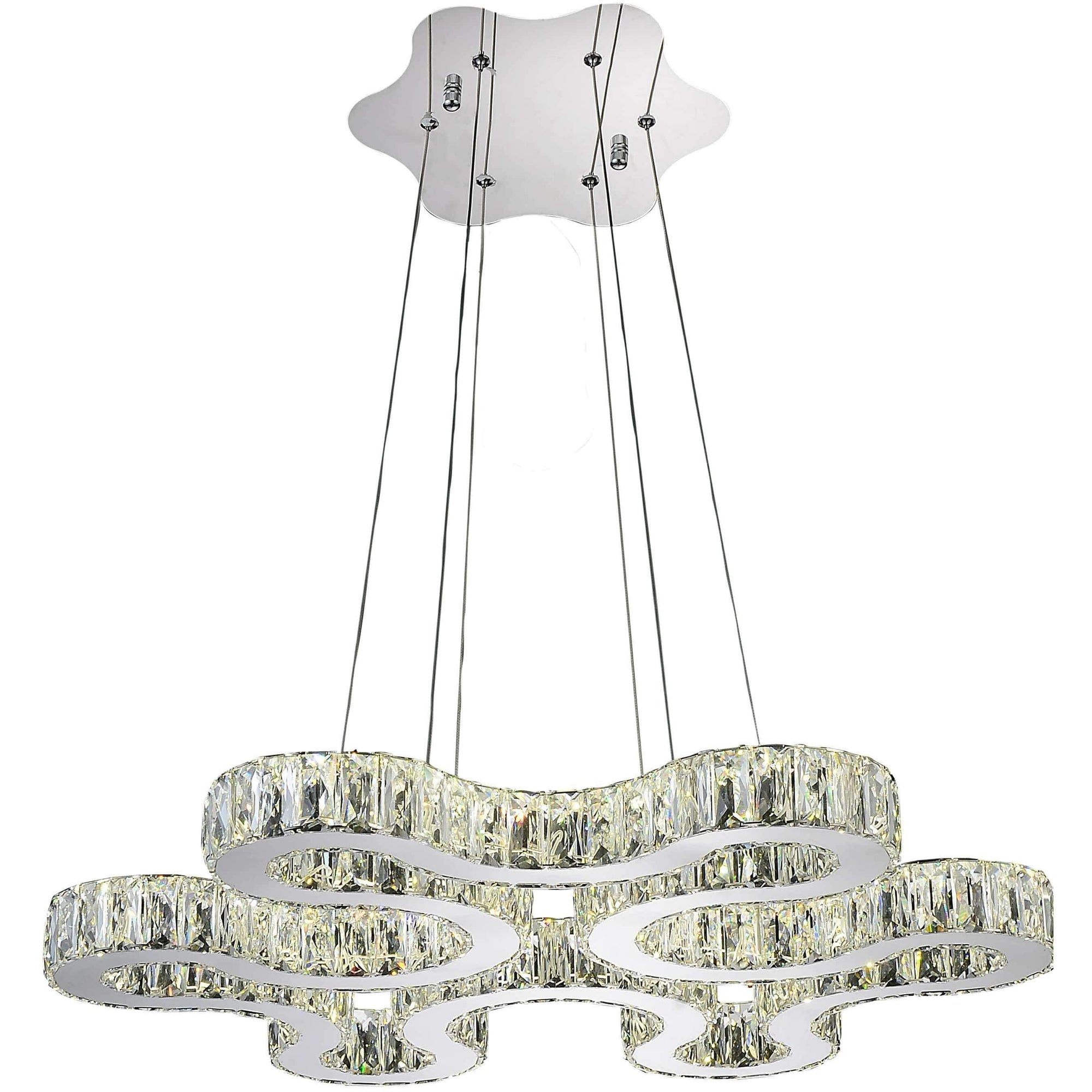 CWI Lighting Chandeliers Chrome / K9 Clear Odessa LED Chandelier with Chrome finish by CWI Lighting 5616P27ST-R