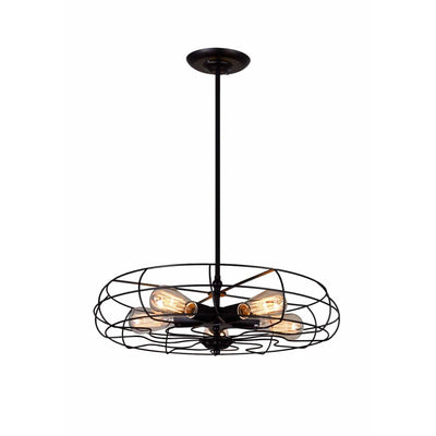 CWI Lighting Pendants Black Pamela 5 Light Pendant with Black finish by CWI Lighting 9606P18-5-101