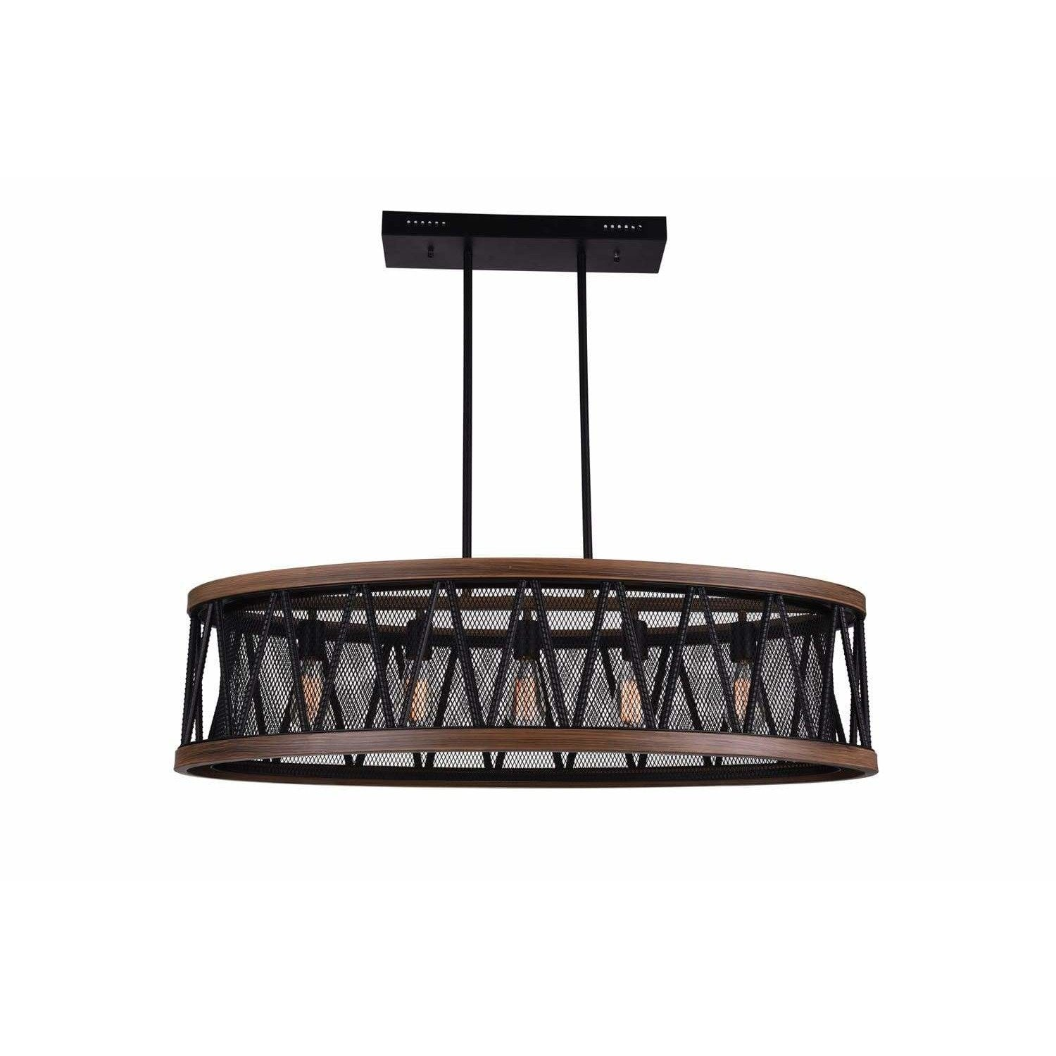 CWI Lighting Island/Pool Table Pewter Parsh 5 Light Island Chandelier with Pewter finish by CWI Lighting 9954P43-5-101