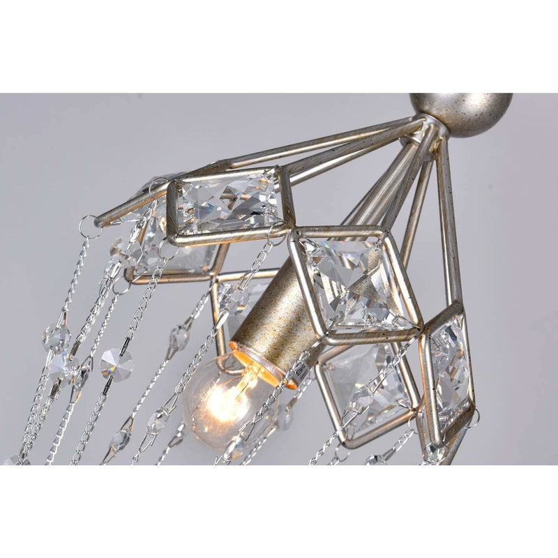 CWI Lighting Mini Chandeliers Speckled Nickel / K9 Clear Pembina 1 Light Down Mini Chandelier with Speckled Nickel finish by CWI Lighting 9840P8-1-161