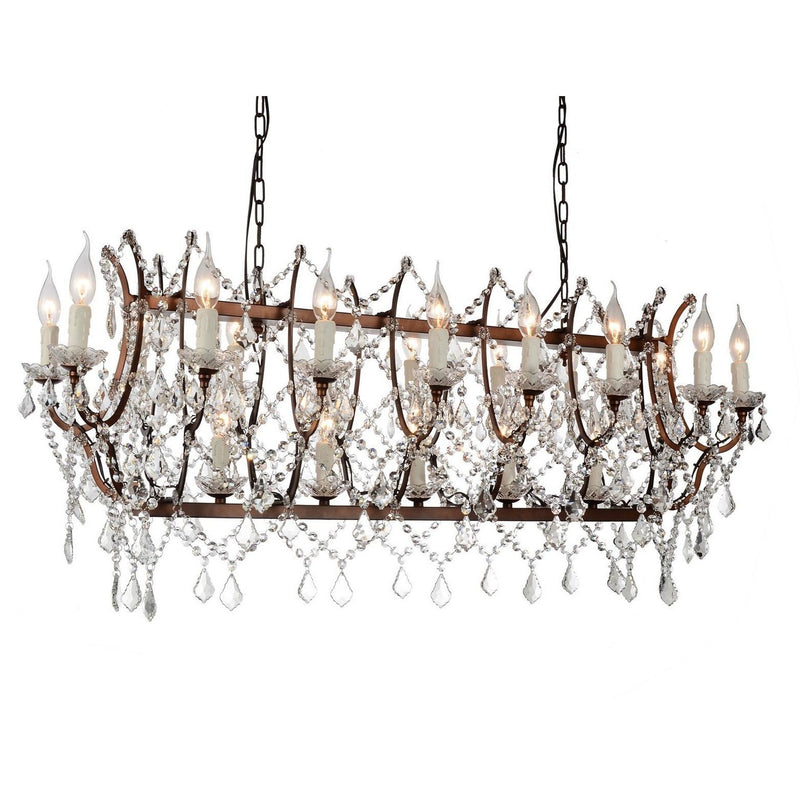 CWI Lighting Chandeliers Light Brown / K9 Clear Phraya 21 Light Up Chandelier with Light Brown finish by CWI Lighting 9910P49-21-199
