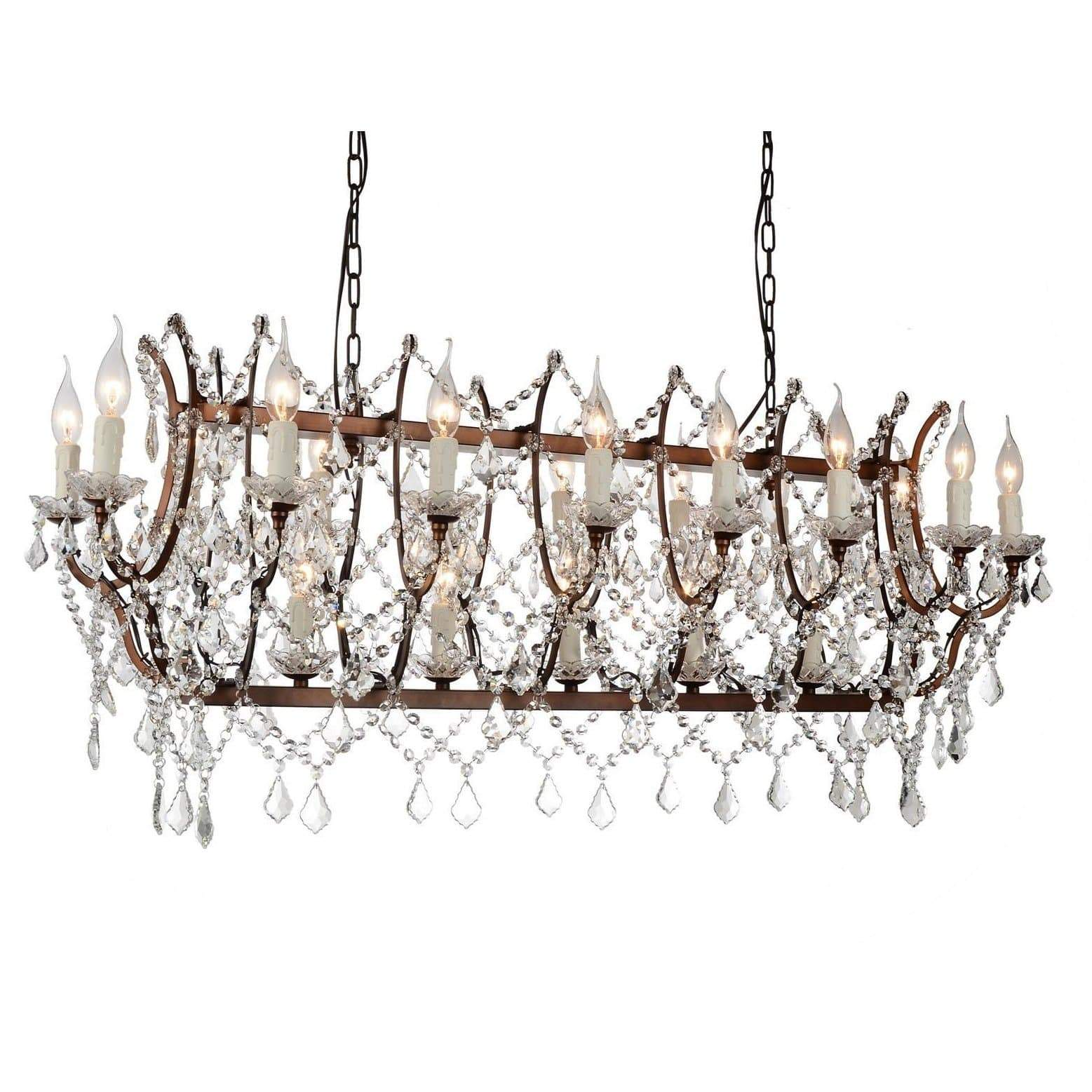 CWI Lighting Chandeliers Light Brown / K9 Clear Phraya 24 Light Up Chandelier with Light Brown finish by CWI Lighting 9910P58-24-199