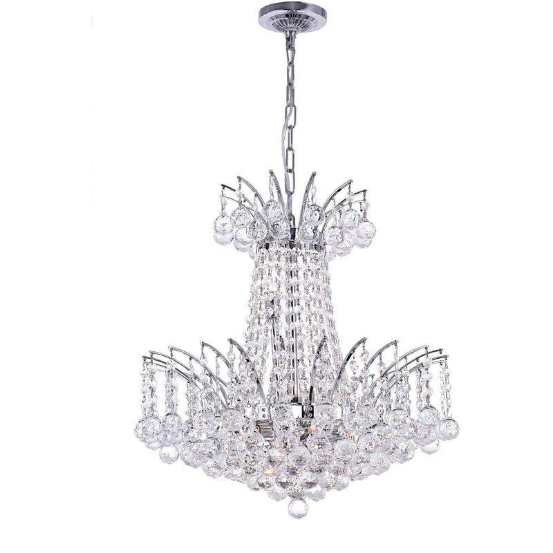 CWI Lighting Chandeliers Chrome / K9 Clear Posh 11 Light Down Chandelier with Chrome finish by CWI Lighting 8010P20C