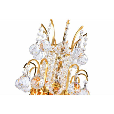 CWI Lighting Chandeliers Gold / K9 Clear Princess 8 Light Down Chandelier with Gold finish by CWI Lighting 8012P20G