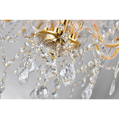 CWI Lighting Chandeliers Gold / K9 Clear Princeton 6 Light Down Chandelier with Gold finish by CWI Lighting 8023P24G-6