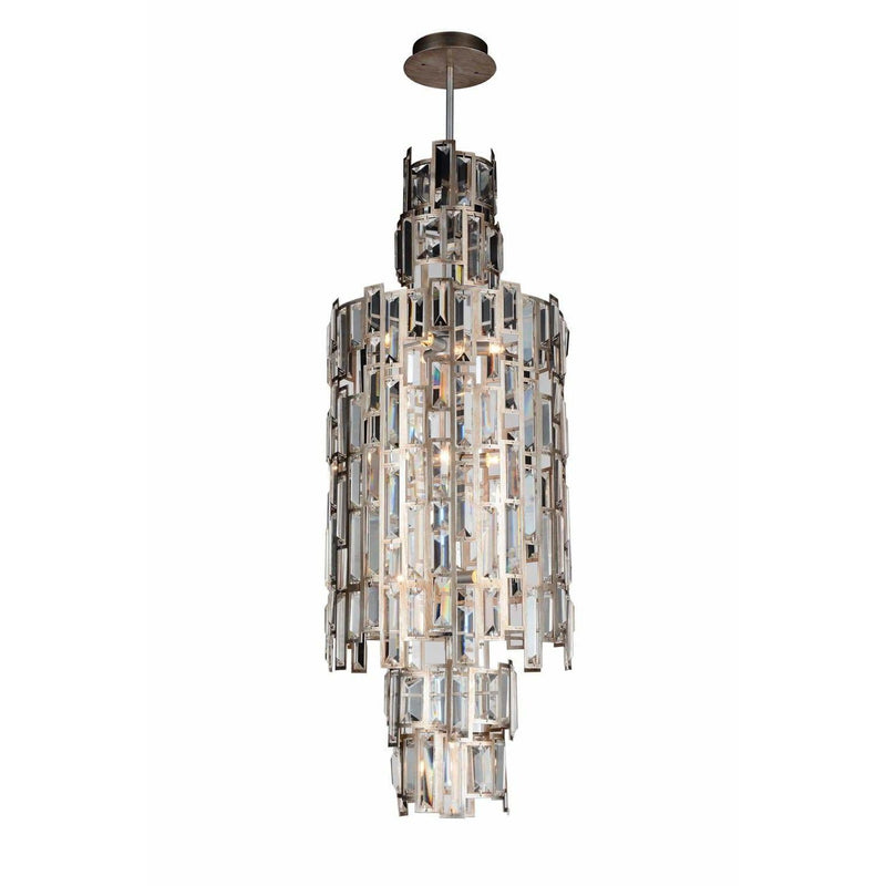 CWI Lighting Chandeliers Champagne / K9 Clear Quida 10 Light Down Chandelier with Champagne finish by CWI Lighting 9903P14-10-193