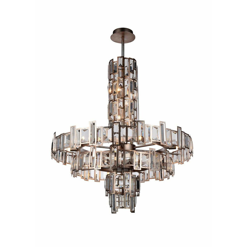 CWI Lighting Chandeliers Champagne / K9 Clear Quida 18 Light Down Chandelier with Champagne finish by CWI Lighting 9903P30-18-193