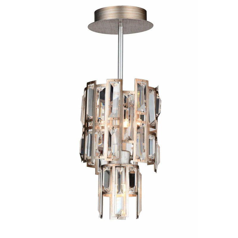 CWI Lighting Chandeliers Champagne / K9 Clear Quida 3 Light Down Chandelier with Champagne finish by CWI Lighting 9903P6-3-193