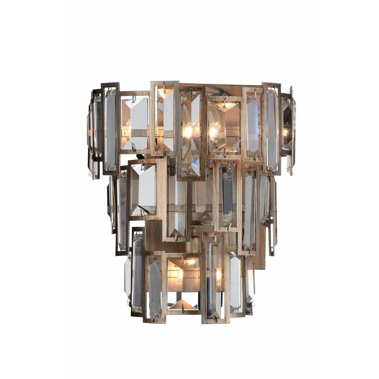 CWI Lighting Wall Sconces Champagne / K9 Clear Quida 3 Light Wall Sconce with Champagne finish by CWI Lighting 9903W10-3-193