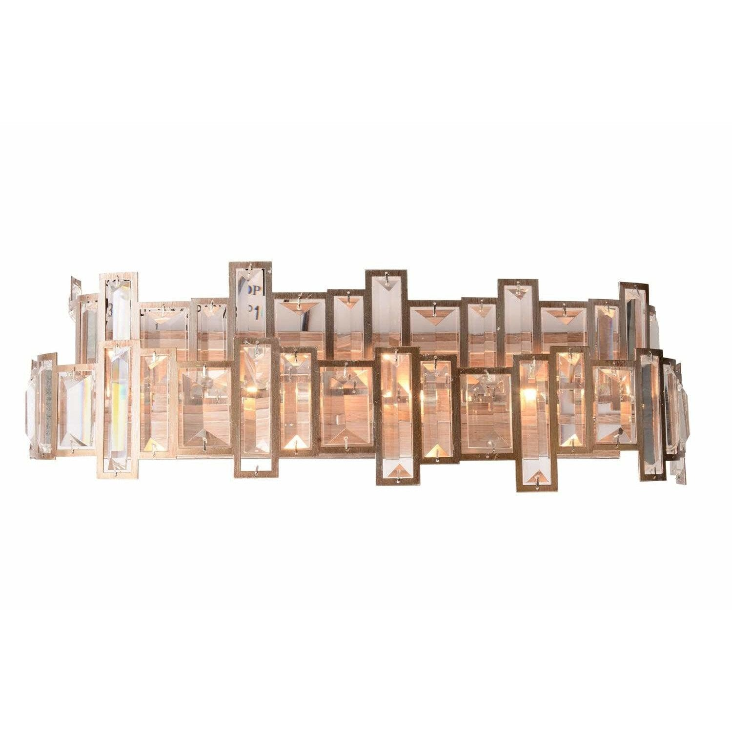 CWI Lighting Wall Sconces Champagne / K9 Clear Quida 4 Light Wall Sconce with Champagne finish by CWI Lighting 9903W24-4-193