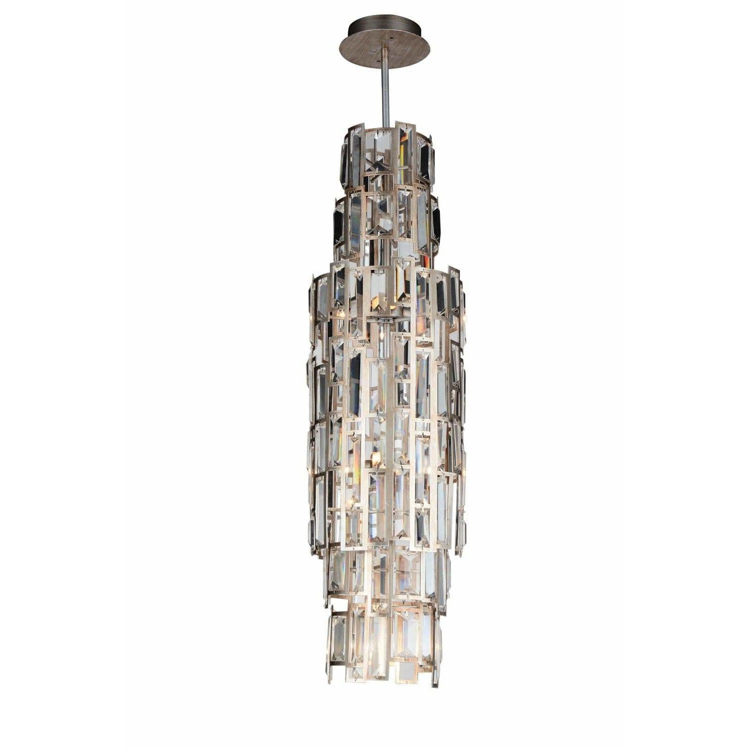 CWI Lighting Mini Chandeliers Champagne / K9 Clear Quida 7 Light Down Mini Chandelier with Champagne finish by CWI Lighting 9903P10-7-193