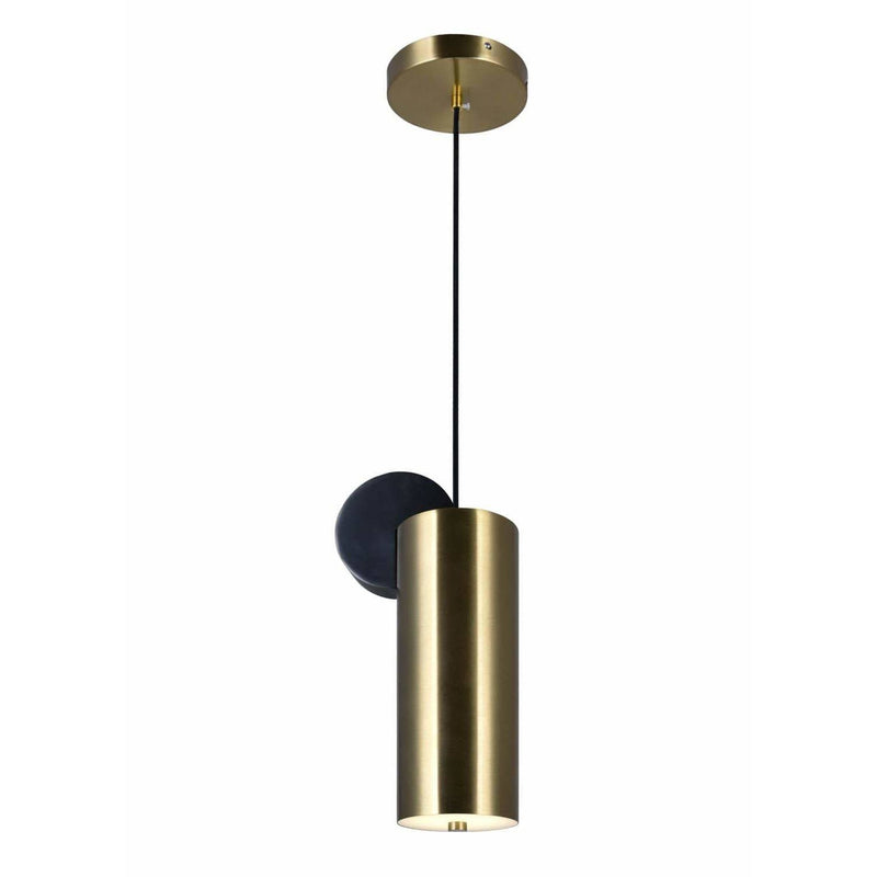 CWI Lighting Pendants Brass+Black Saleen LED Mini Pendant with Brass+Black Finish by CWI Lighting 1156P6-625