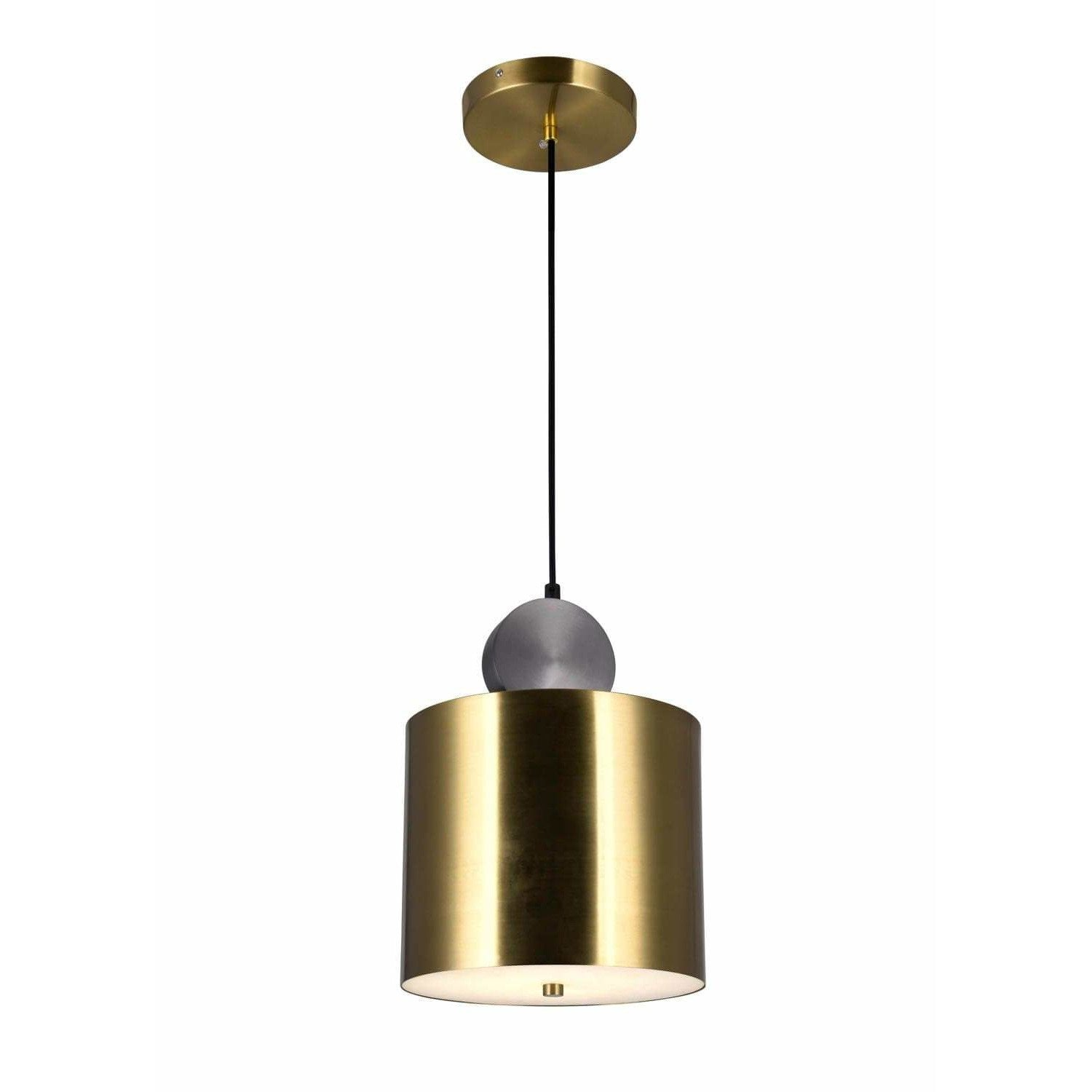 CWI Lighting Pendants Brass+Black Saleen LED Mini Pendant with Brass+Black Finish by CWI Lighting 1156P9-625