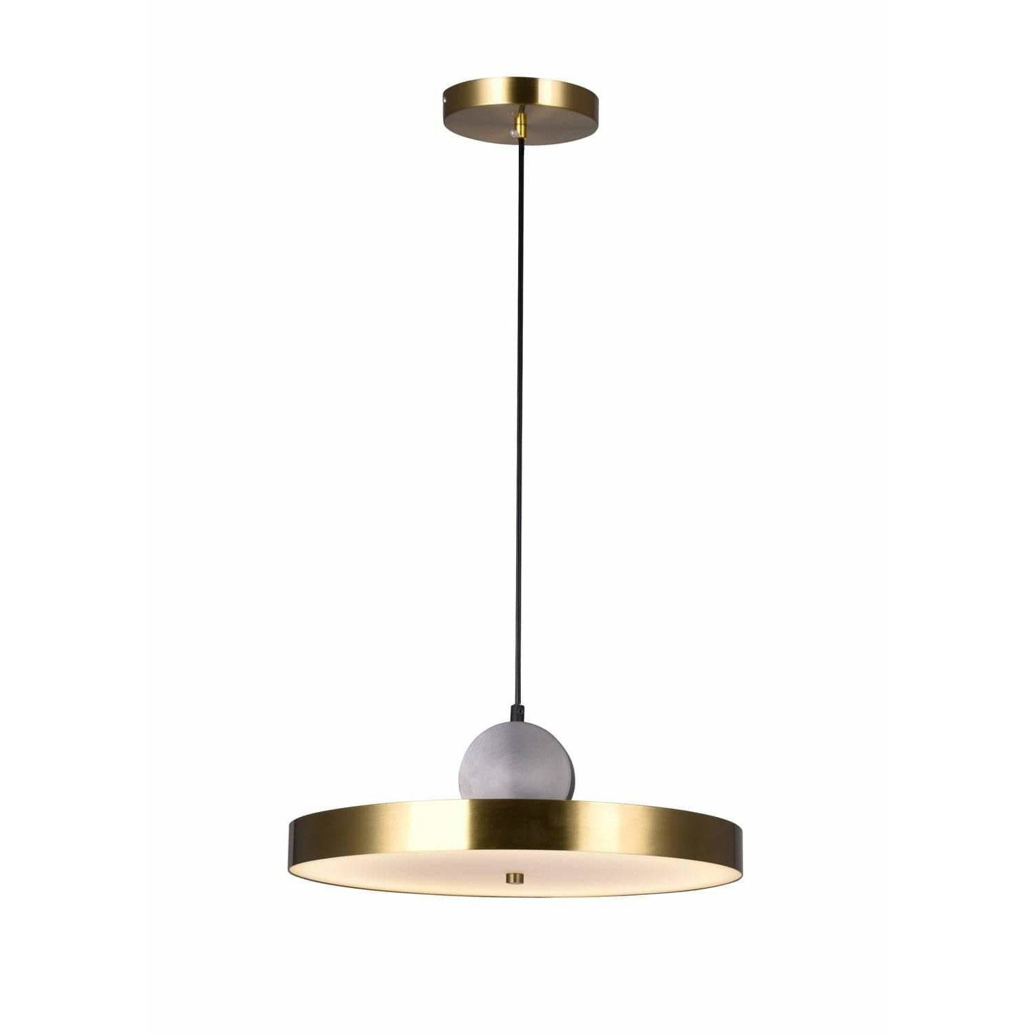 CWI Lighting Pendants Brass+Black Saleen LED Pendant with Brass+Black Finish by CWI Lighting 1156P16-625