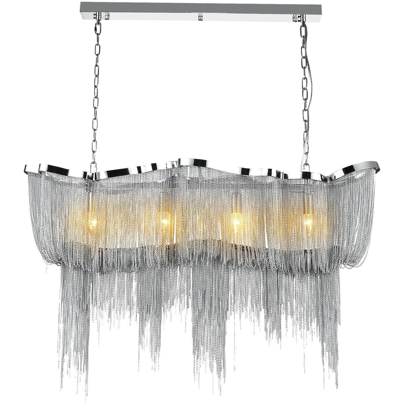 CWI Lighting Chandeliers Chrome Secca 11 Light Down Chandelier with Chrome finish by CWI Lighting 5654P40C-RC