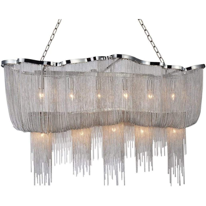 CWI Lighting Chandeliers Chrome Secca 13 Light Down Chandelier with Chrome finish by CWI Lighting 5654P55C-RC