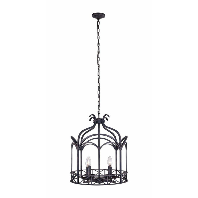 CWI Lighting Chandeliers Grayish Brown Sequoia 4 Light Up Chandelier with Grayish Brown finish by CWI Lighting 9936P16-4-223