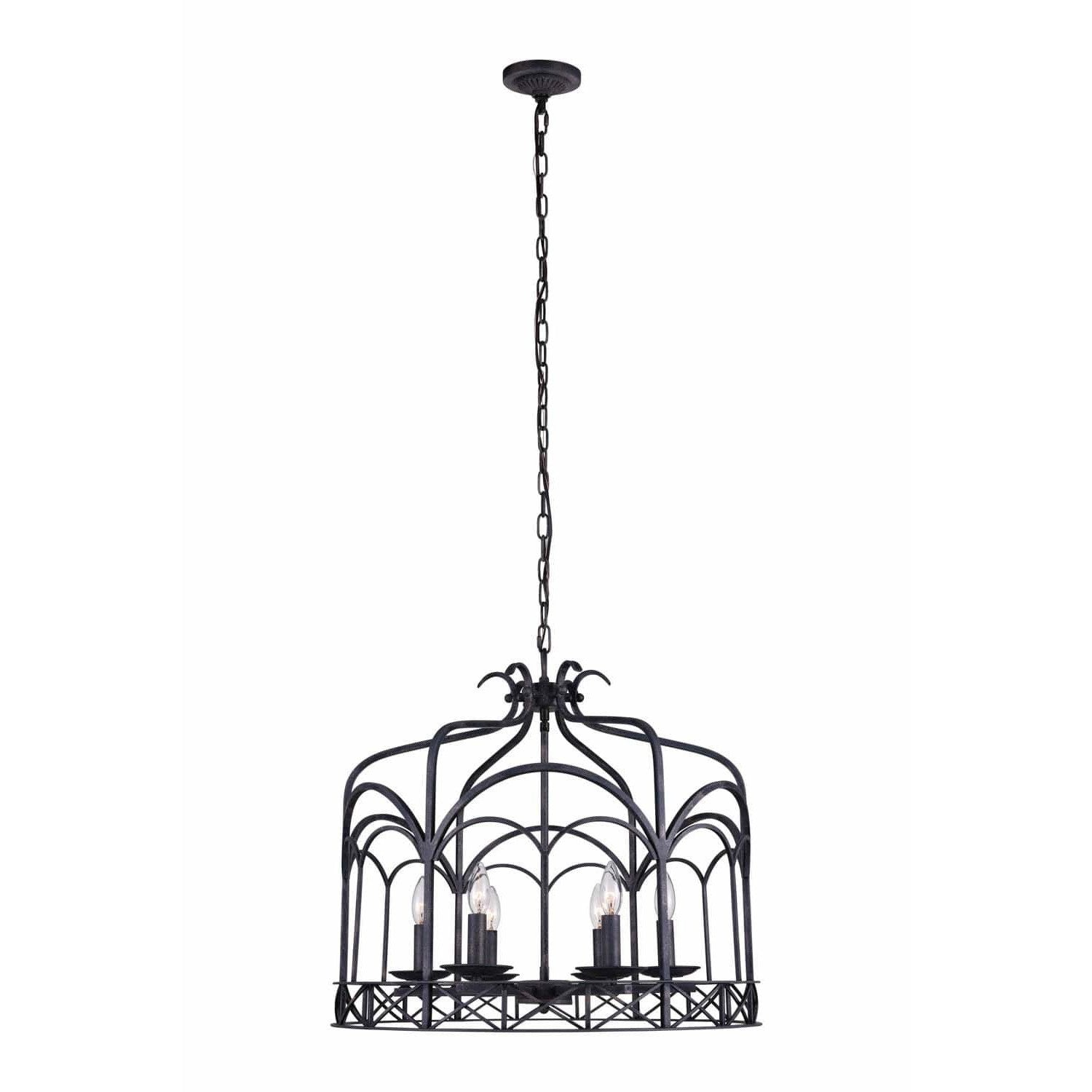 CWI Lighting Chandeliers Grayish Brown Sequoia 6 Light Up Chandelier with Grayish Brown finish by CWI Lighting 9936P24-6-223