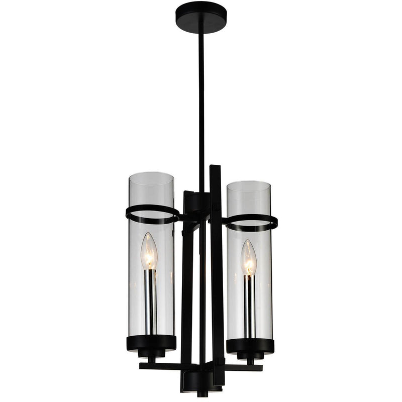 CWI Lighting Pendants Black Sierra 2 Light Up Mini Pendant with Black finish by CWI Lighting 9827P11-2-101