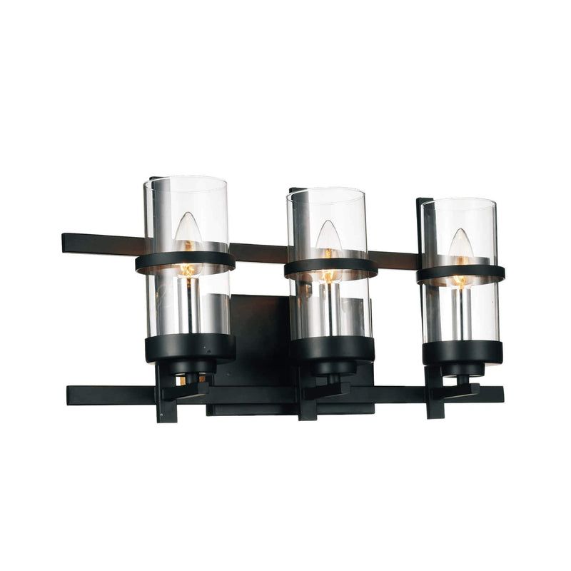 CWI Lighting Wall Sconces Black Sierra 3 Light Wall Sconce with Black finish by CWI Lighting 9827W21-3-101