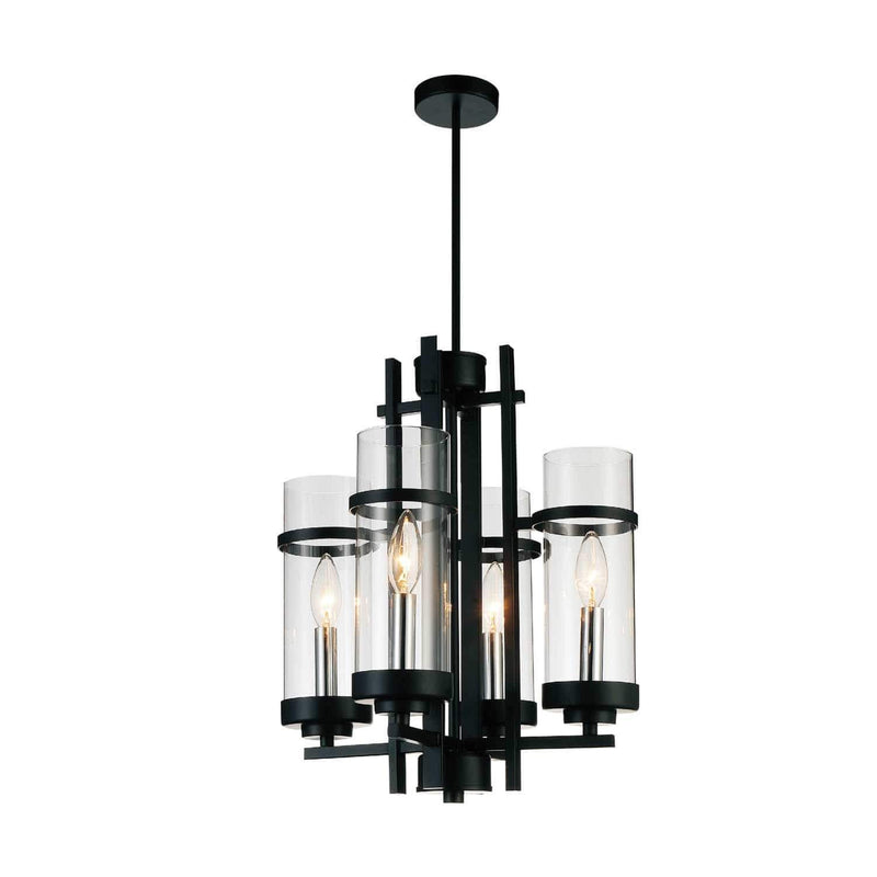 CWI Lighting Pendants Black Sierra 4 Light Up Mini Pendant with Black finish by CWI Lighting 9827P14-4-101