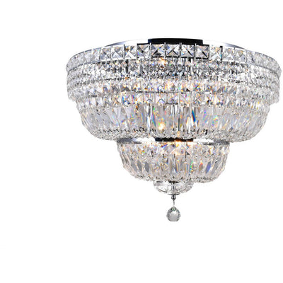 CWI Lighting Flush Mounts Chrome / K9 Clear Stefania 9 Light Bowl Flush Mount with Chrome finish by CWI Lighting 8003C24C