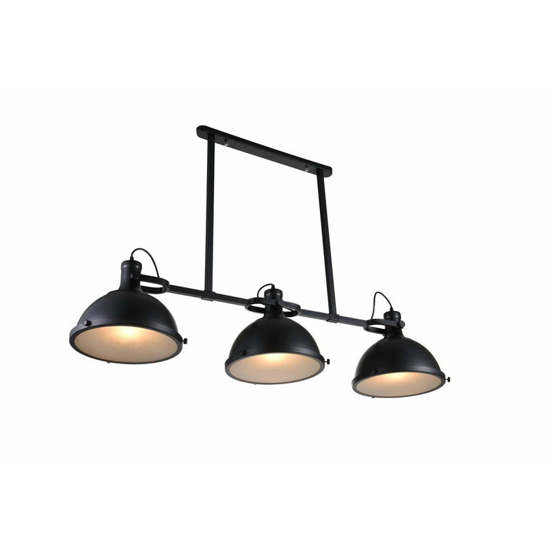 CWI Lighting Island Lighting Black / Clear Strum 3 Light Island Chandelier with Black finish by CWI Lighting 9760P50-3-101