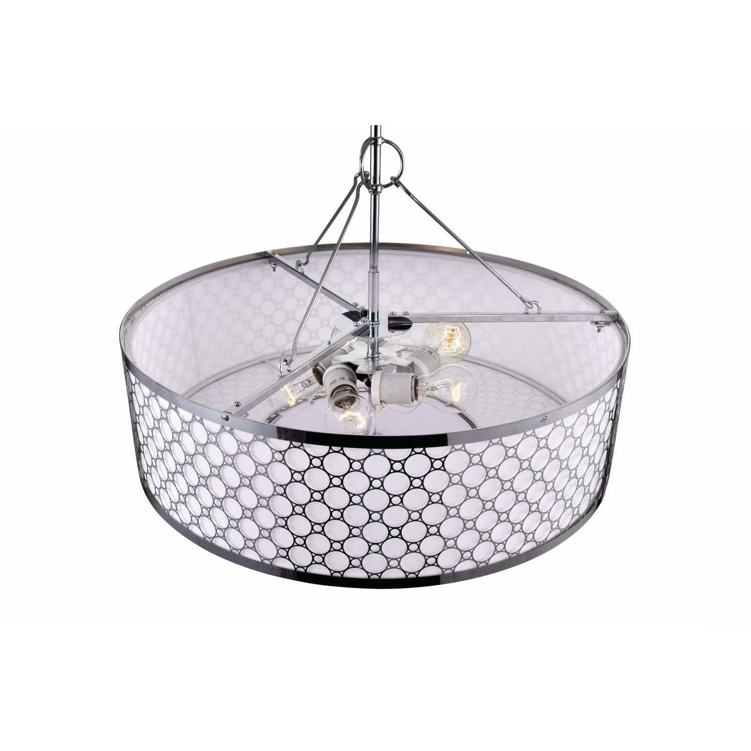 CWI Lighting Chandeliers Chrome Swiss 4 Light Down Chandelier with Chrome finish by CWI Lighting 5504P16ST