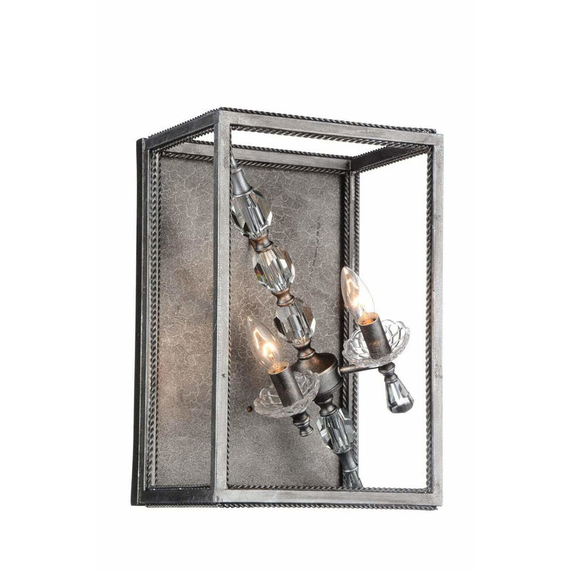 CWI Lighting Wall Sconces Luxor Silver / K9 Clear Tapi 2 Light Wall Sconce with Luxor Silver finish by CWI Lighting 9891W11-2-183
