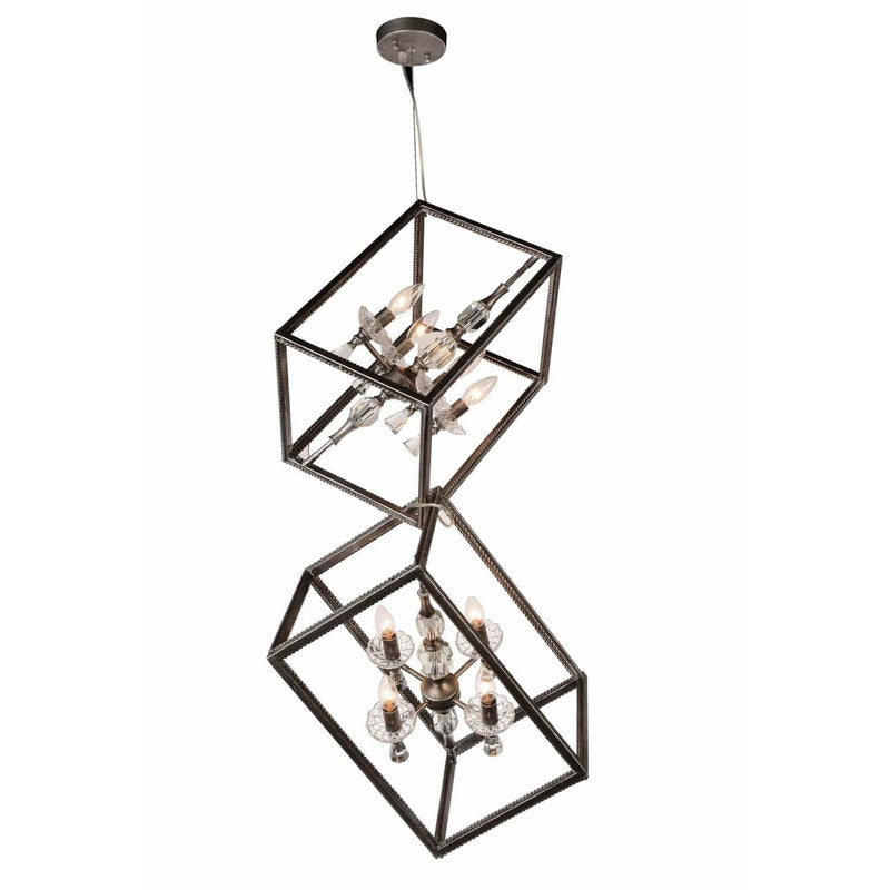 CWI Lighting Mini Chandeliers Luxor Silver / K9 Clear Tapi 8 Light Up Mini Chandelier with Luxor Silver finish by CWI Lighting 9891P11-8-183