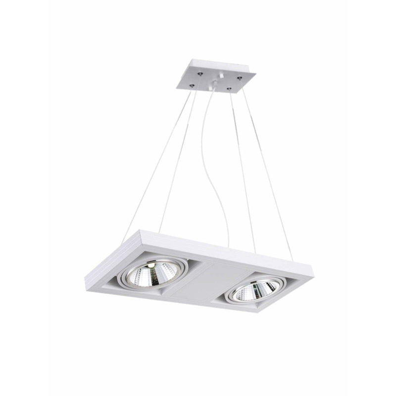 CWI Lighting Island Lighting White Wrest LED Island Chandelier with White finish by CWI Lighting 7114P18-2-103