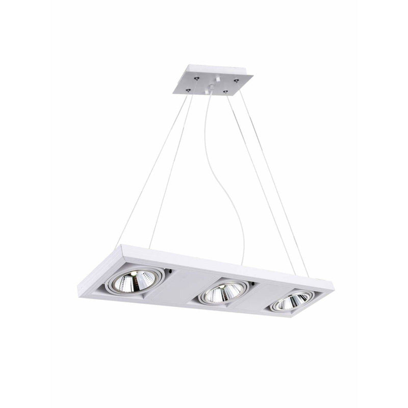 CWI Lighting Island Lighting White Wrest LED Island Chandelier with White finish by CWI Lighting 7114P29-3-103