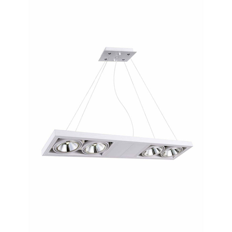 CWI Lighting Island Lighting White Wrest LED Island Chandelier with White finish by CWI Lighting 7114P32-4-103