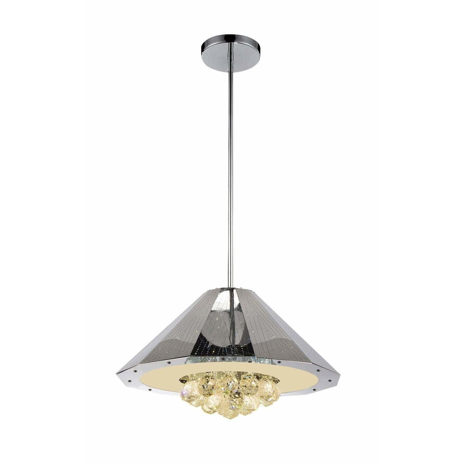 CWI Lighting Chandeliers Chrome Yangtze 6 Light Down Chandelier with Chrome finish by CWI Lighting 5666P18C