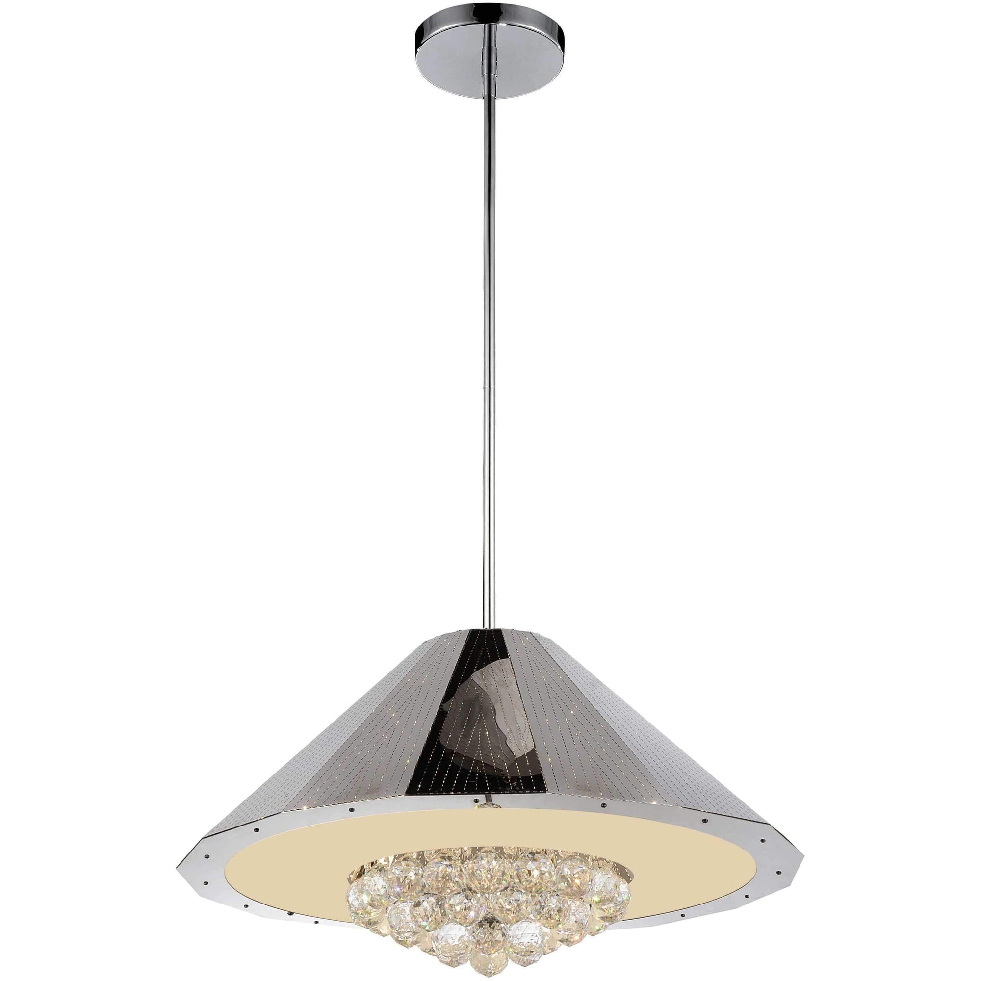 CWI Lighting Chandeliers Chrome Yangtze 9 Light Down Chandelier with Chrome finish by CWI Lighting 5666P25C