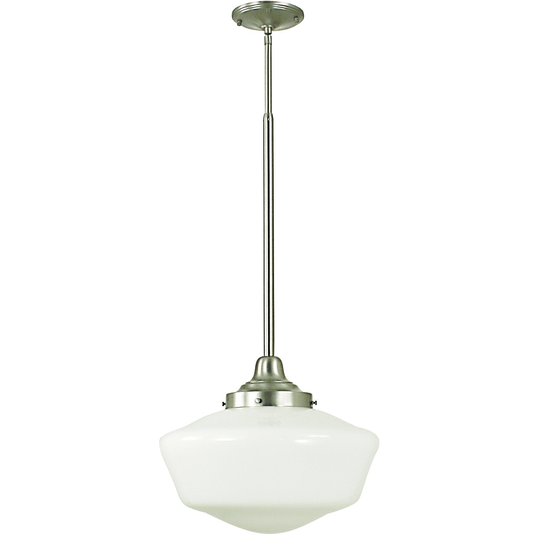 Framburg Pendants Brushed Nickel 1-Light Brushed Nickel Taylor Pendant by Framburg 2559