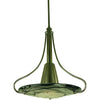Framburg Pendants Mahogany Bronze with Gold Leaf Glass Shade 1-Light Mahogany Bronze Brocatto Pendant by Framburg 1093